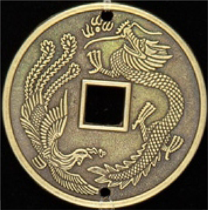 large image of dragon coin