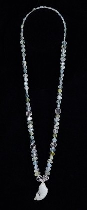 Jadeite Fish Medallion and Aquamarine Necklace