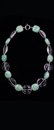 Day and Night Jadeite and Quartz Disc Choker Necklace