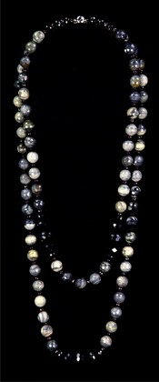 Picasso Jasper and Black Onyx Graduated Necklace