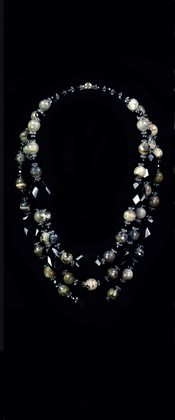 Black Onyx with Picasso Jasper Graduated Necklace