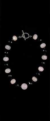 Rose Quartz and Black Onyx Necklace