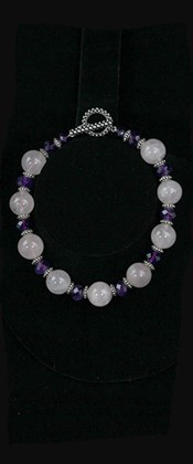 Rose Quartz and Amethyst Necklace