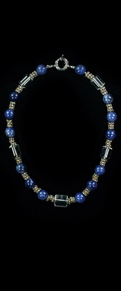 Sodalite and Sterling Silver Choker Necklace