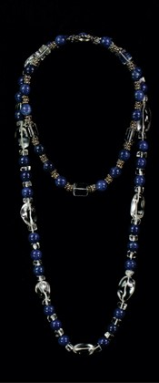 Sodalite Choker and Opera Necklace Set