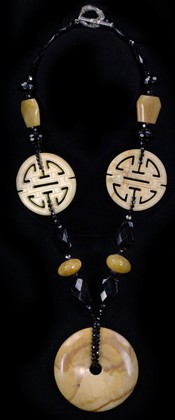 Disc with Longevity Medallions Necklace