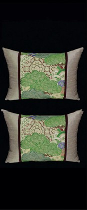 BRIGHT GREEN PINES PILLOW PAIR