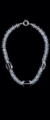 Quartz Threesome with Aquamarine Necklace