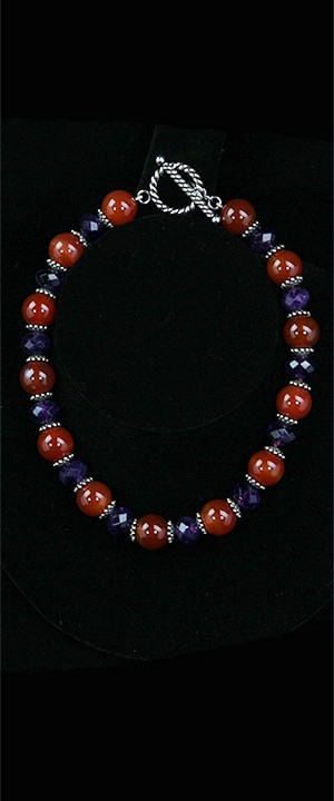Carnelian and Amethyst Choker Necklace