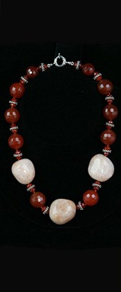Fiery Agate Threesome with Carnelian Choker Necklace