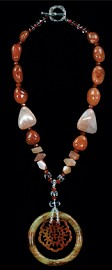 Creativity Medallion and Carnelian Necklace