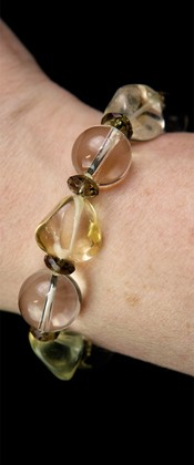 Citrine Nugget and Quartz Bracelet