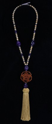 Creativity Medallion with Leopardskin Jasper Necklace