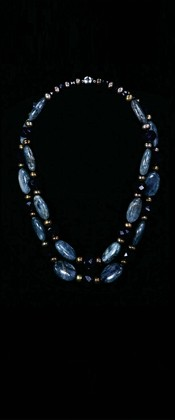 Blue Kyanite Pebbles Graduated Necklace