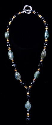 Labradorite Pebbles Pendant Necklace