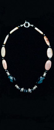Black Onyx and Moonstone Choker Necklace