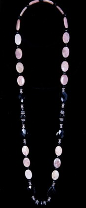 Black Onyx and Moonstone Opera Necklace