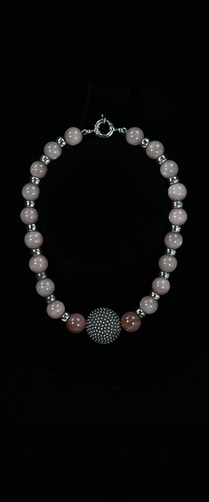 Sterling Centerpiece and Moonstone Choker Necklace