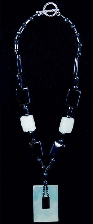 Window of Opportunity and Black Onyx  Necklace