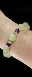 New Jade with Amethyst Bracelet