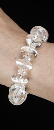 Energy Bracelet with Quartz Ellipses