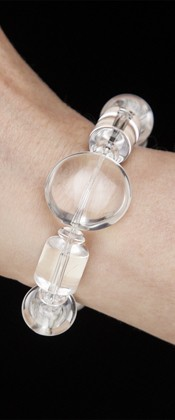 Energy Bracelet with Quartz Disc