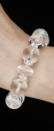 Energy Bracelet with Quartz Cylinders