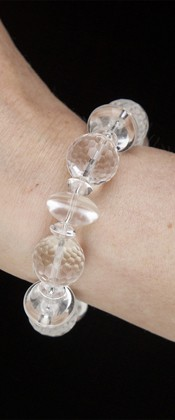 Energy Bracelet with Faceted Quartz