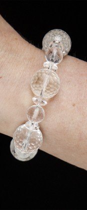 Energy Bracelet with Faceted Globes