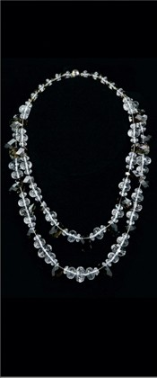 Quartz and Smoky Quartz Graduated Necklace