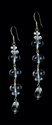 Quartz Triple Ellipse Earrings