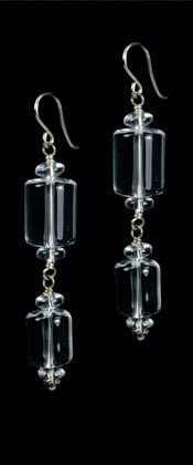 Quartz Double Cylinder Earrings