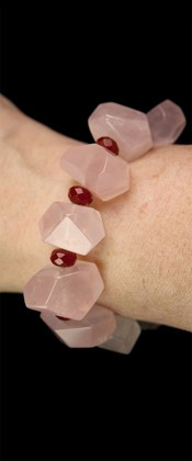Rose Quartz and Carnelian Bracelet