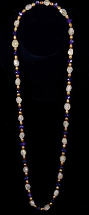 Rutilated Quartz and Amethyst Opera Necklace