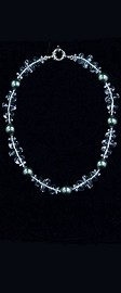 Energy Wave with Midnight Shell Pearl Choker Necklace