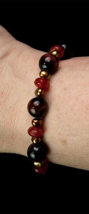 Red Tiger Eye and Carnelian Bracelet