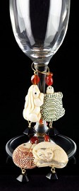 Celebrate Animals Wine Charms - Black