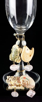 Celebrate Animals Wine Charms - Pink