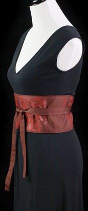 Abstract Urushi Confetti Reversible Obi Wrap Belt