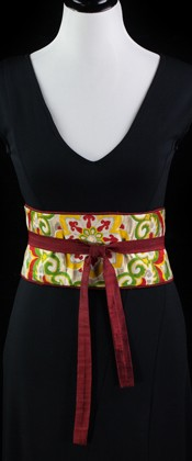 Brilliant Flower Reversible Obi Wrap Belt