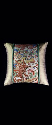 DRUMS WITH MANDARIN DUCKS LUMBAR PILLOW