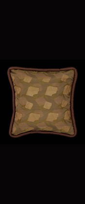 BAMBOO and GOLDEN MESH PILLOW