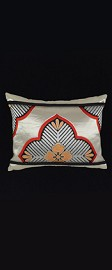 SILVER PINE MEDALLIONS PILLOW