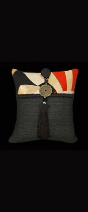 RED and GOLD NOSHI RIBBONS PILLOW