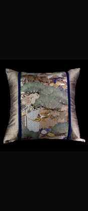PINE TREES with TREASURE BOX PILLOW