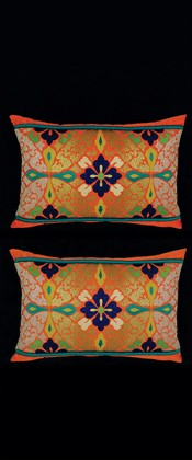 IMAGINARY FLOWER IN CIRCLE PILLOW PAIR