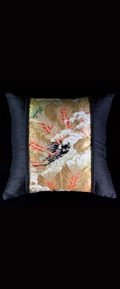 PINE BOUGHS with WAVES LUMBAR PILLOW