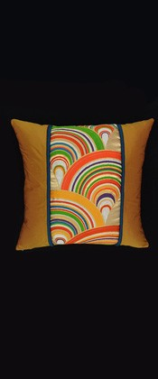BRIGHTLY COLORED WAVES PILLOW