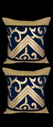 GOLDEN ARABESQUE PILLOW PAIR
