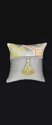 GOLDEN KIRI with ORANGE STRIPE PILLOW